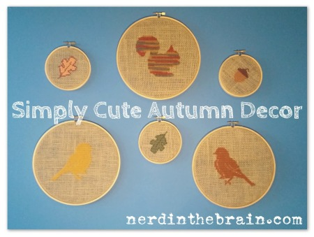 burlap cross stitch autumn title