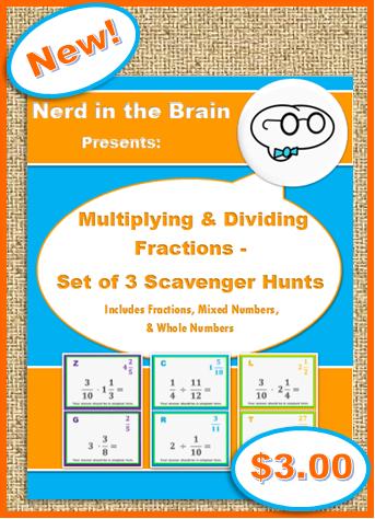 Multiplying & Dividing Fractions - Set of 3 Scavenger Hunts