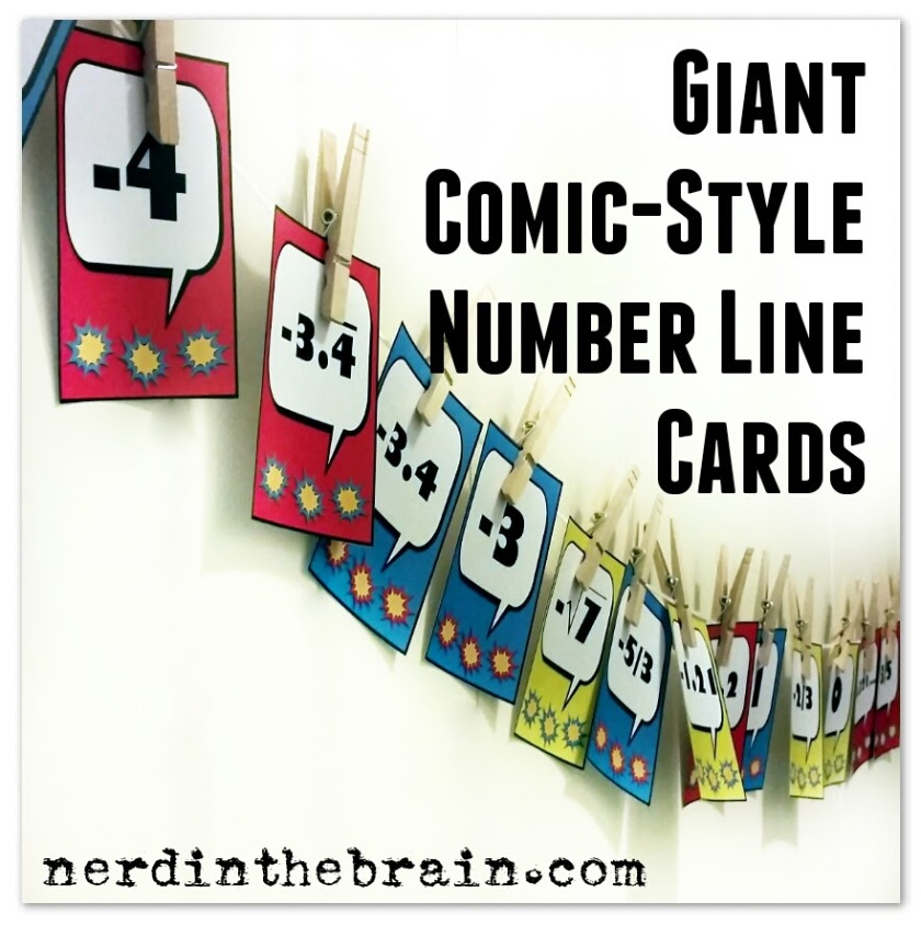 Giant Comic-Style Number Line Cards | Nerd in the Brain