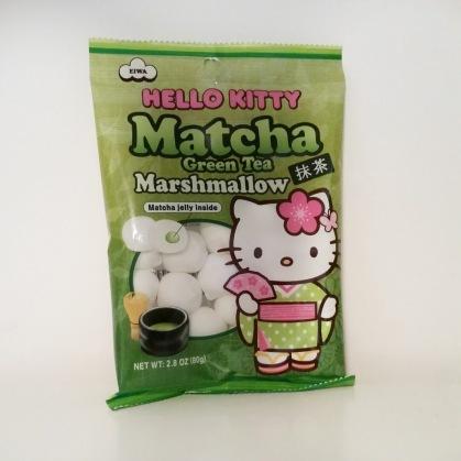 Hello Kitty Matcha Green Tea Marshmallows | Nerd in the Brain