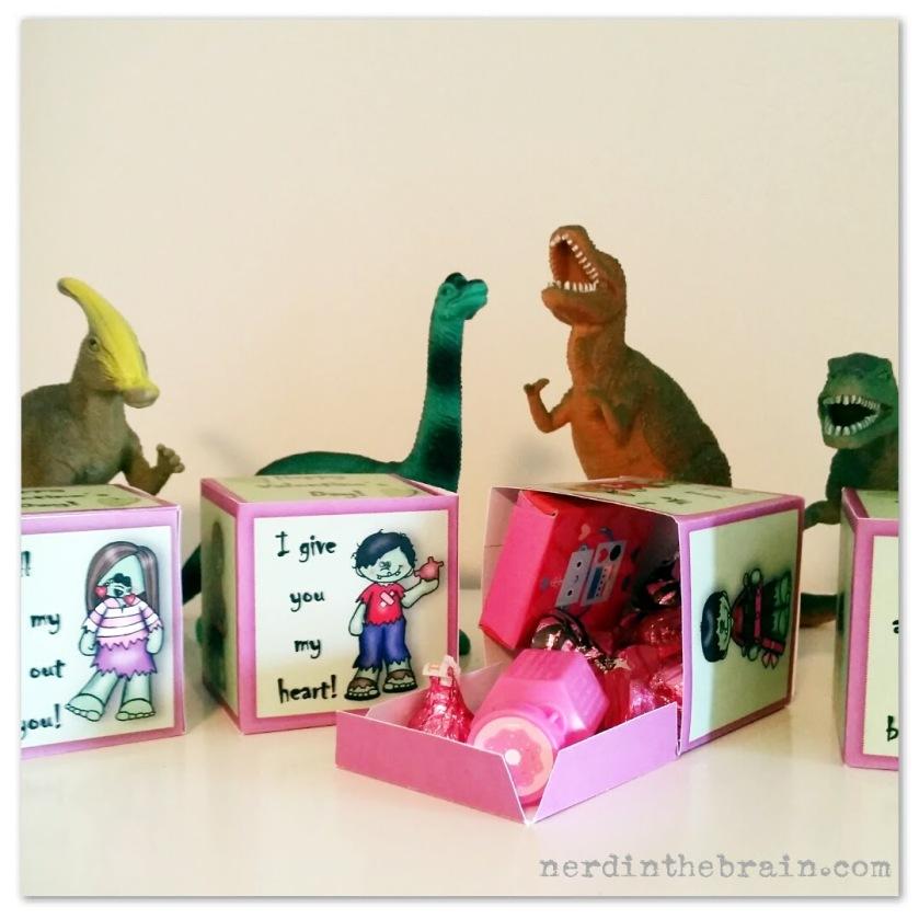 Zombie Valentine Treat Boxes | Free Printable from Nerd in the Brain