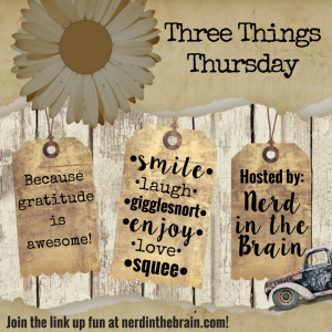 Three Things Thursday: A weekly look at what's making us gigglesnort with glee! | Nerd in the Brain